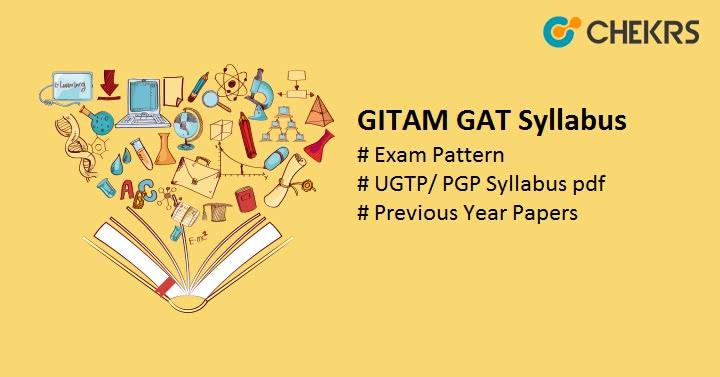 GITAM GAT Syllabus 2020