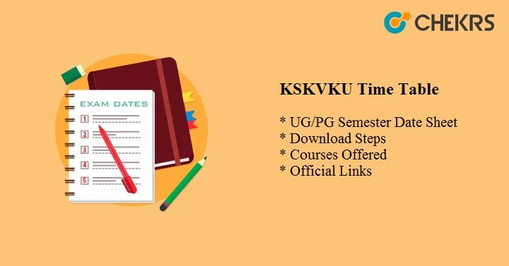 kskvku time table 2020