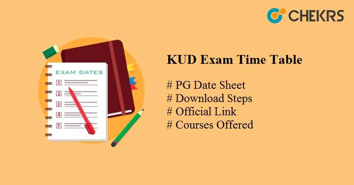 kud exam time table 2020