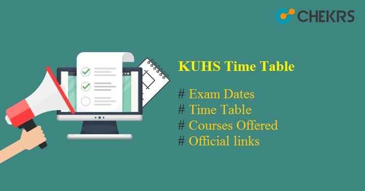 kuhs time table 2021