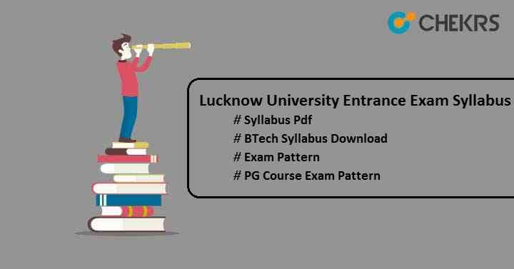 lucknow university entrance exam syllabus
