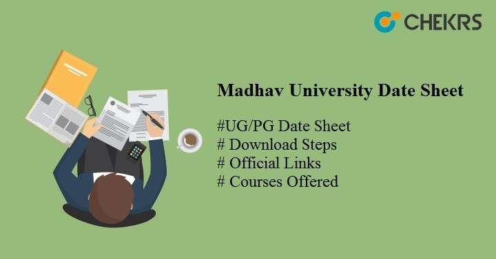 madhav university date sheet 2021