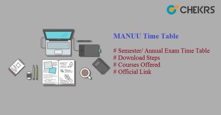 manuu time table 2021