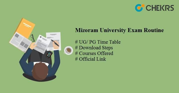 mizoram university exam routine 2020