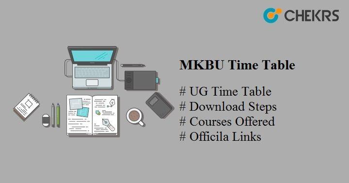 mkbu time table 2020