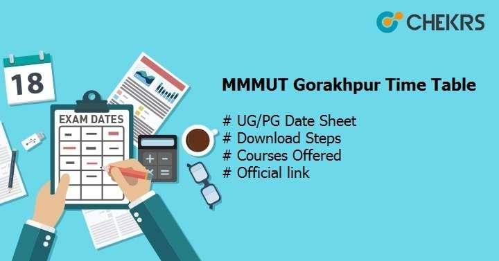 mmmut gorakhpur time table 2020