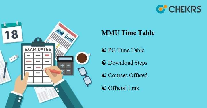 mmu time table 2020