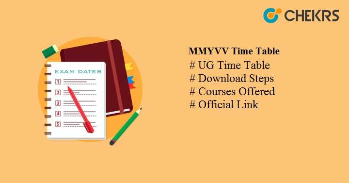 mmyvv time table 2021