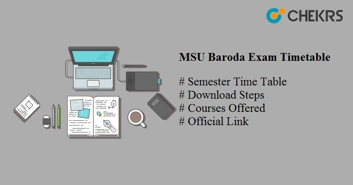 Msu Baroda Exam Timetable 2020 Semester Annual Exam Date