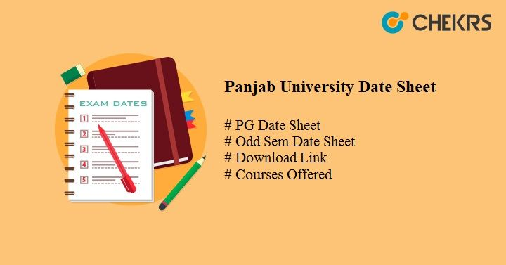 Panjab University PG Date Sheet 2020