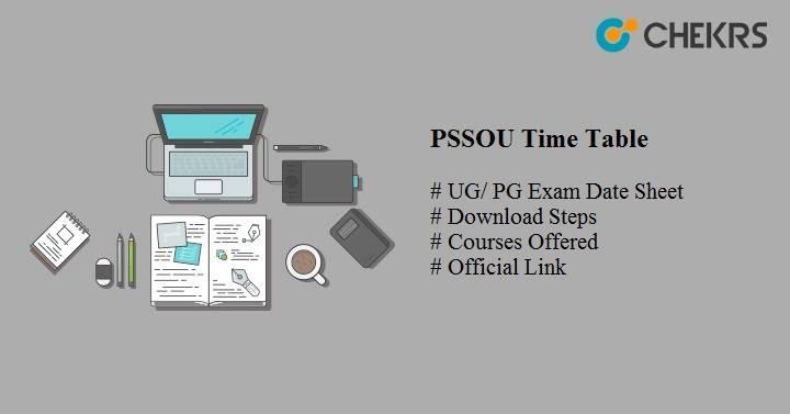 pssou time table 2020