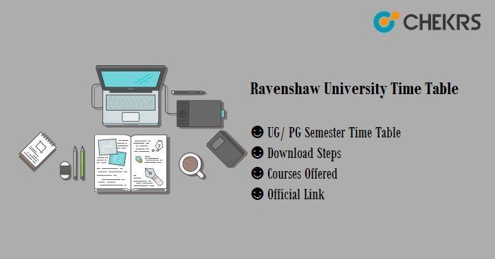 ravenshaw university time table 2020
