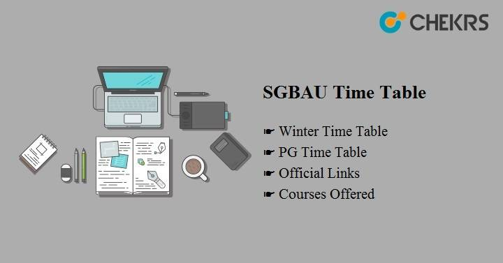 SGBAU PG Summer Time Table 2020