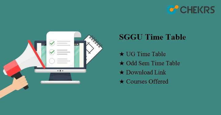 sggu time table 2021