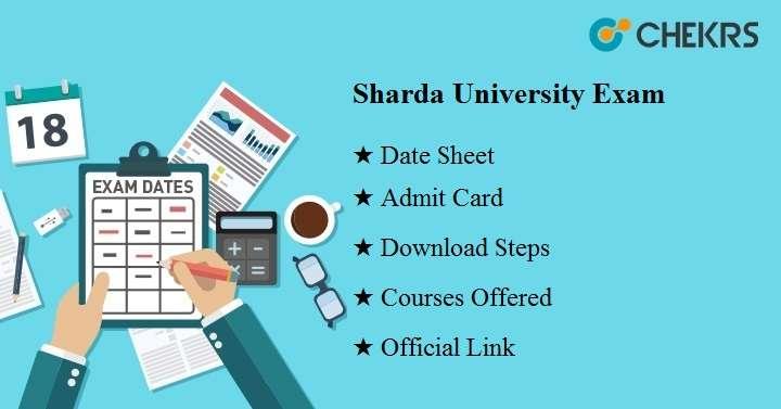 sharda university exam 2020