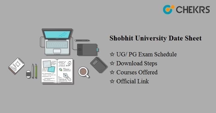 shobhit university date sheet 2020