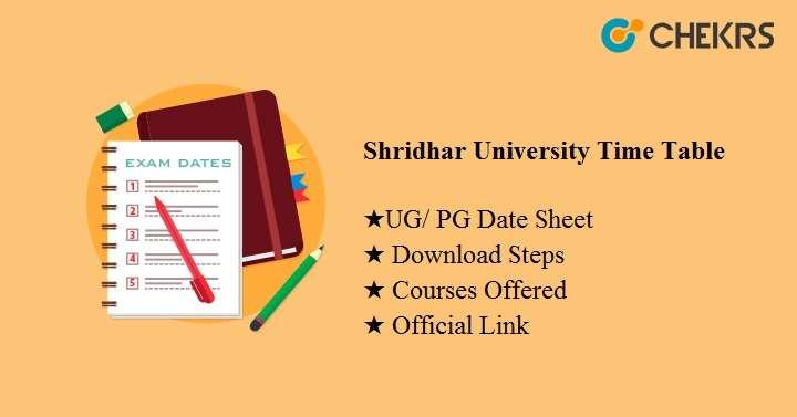 shridhar university time table 2020