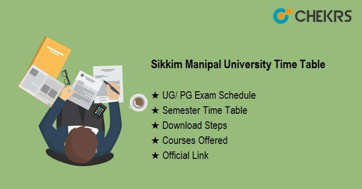 sikkim manipal university time table 2020
