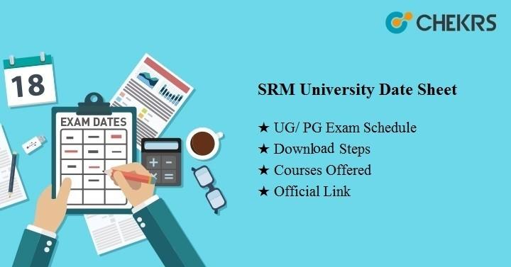 srm university date sheet 2021