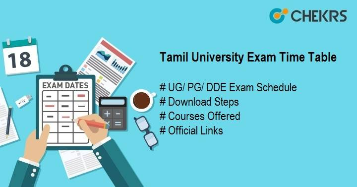 tamil university exam time table