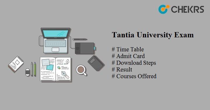 Tantia University Exam 2020
