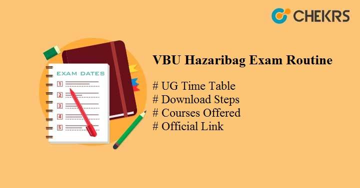 vbu hazaribag exam routine