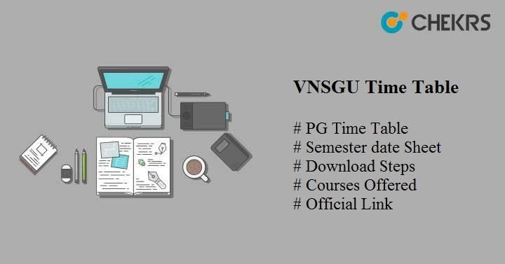 vnsgu time table