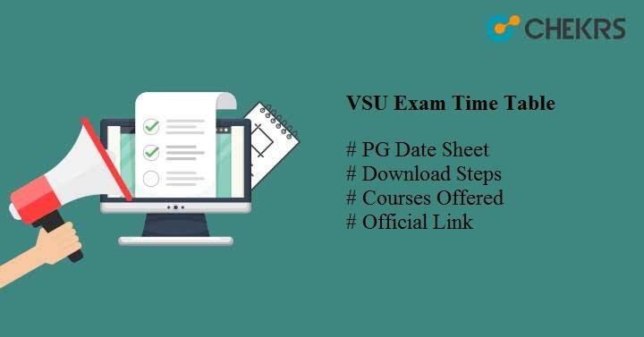 vsu exam time table 2019 Vikrama Simhapuri University