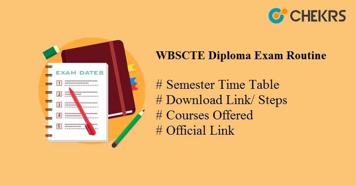 wbscte diploma exam routine 2019