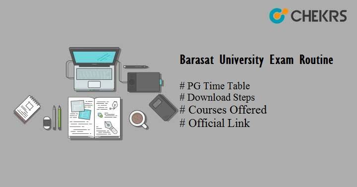 barasat university exam routine