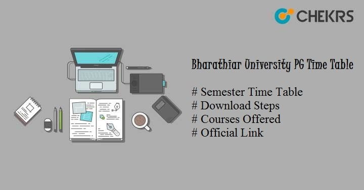 bharathiar university pg time table 2021