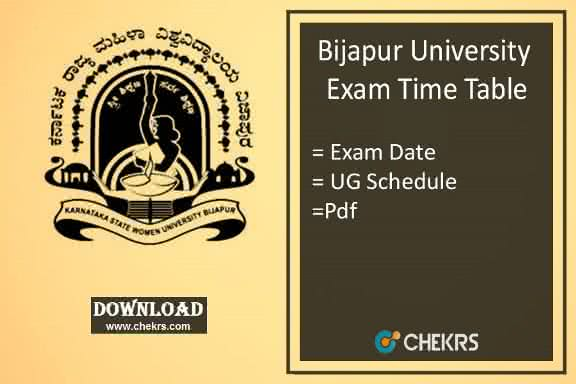 Bijapur University Time Table 2020 pdf