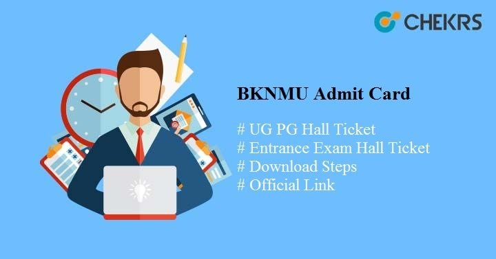 bknmu admit card 2020