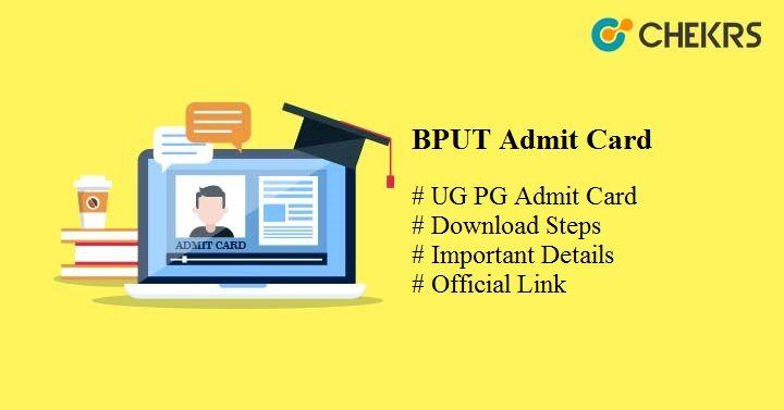 bput admit card