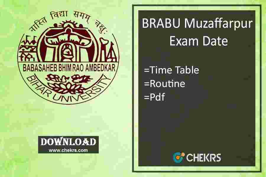 BRABU Exam Date 2020