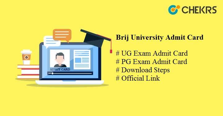 brij university admit card