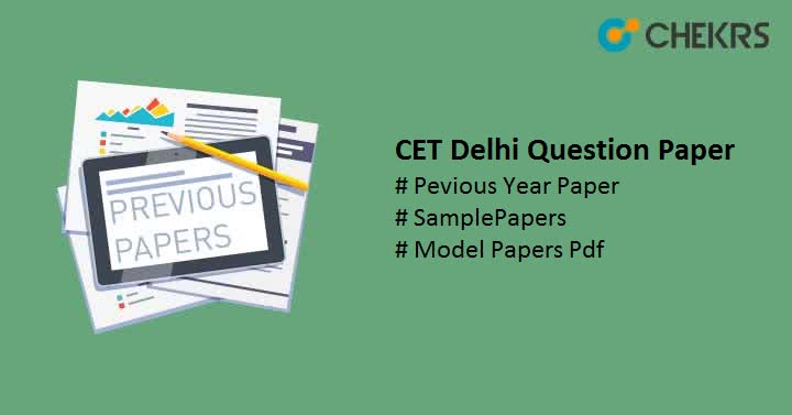 CET Delhi Question Paper