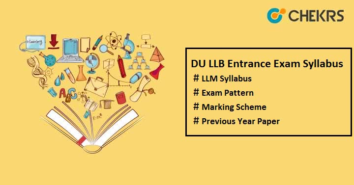 DU LLB Entrance Exam Syllabus 2019
