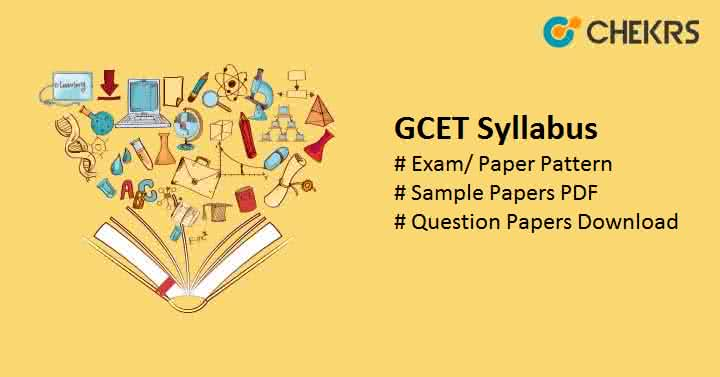 GCET Syllabus Sample Paper