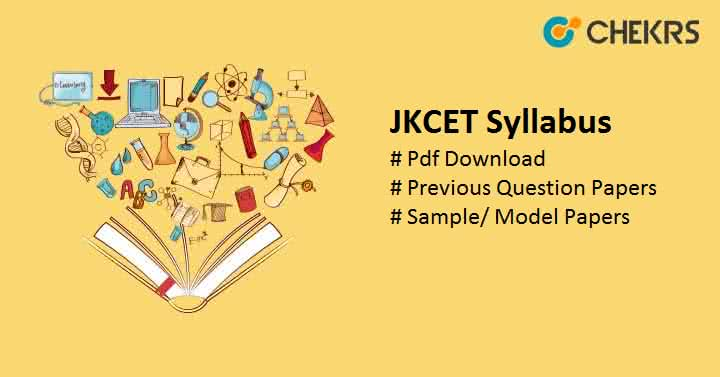 JKCET Syllabus Question Papers