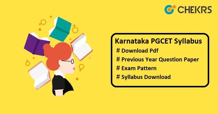 karnataka pgcet syllabus pdf