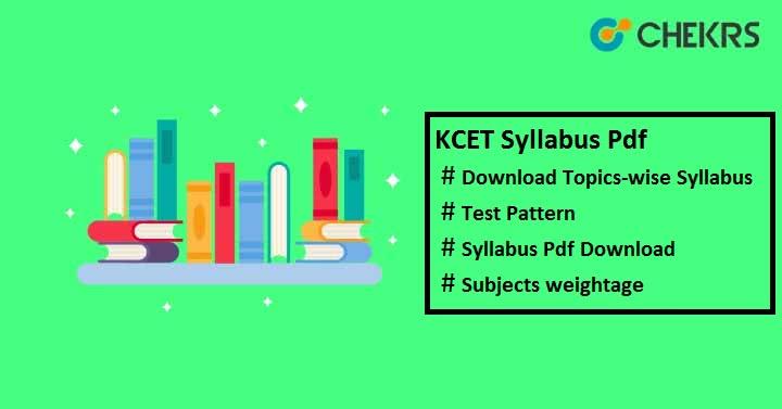 kcet syllabus pdf