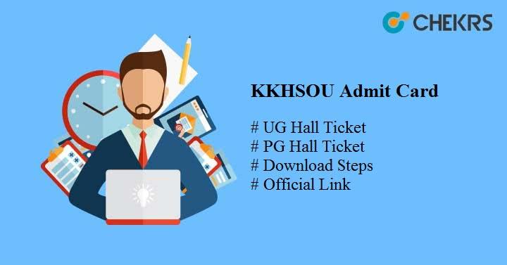 kkhsou admit card 2020