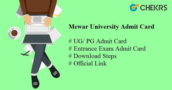mewar university admit card