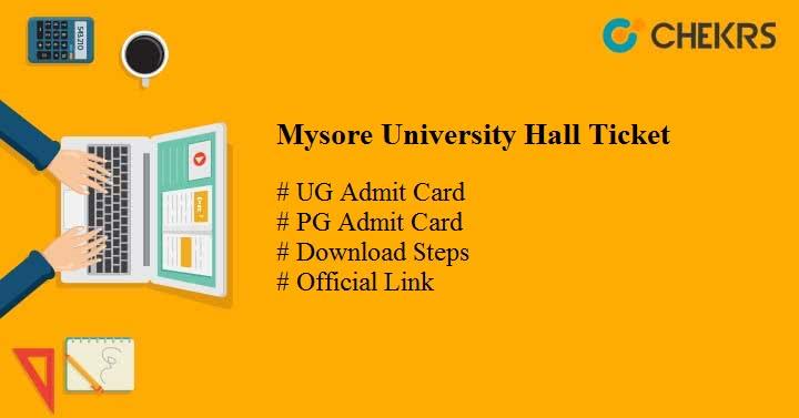 mysore university hall ticket 2021