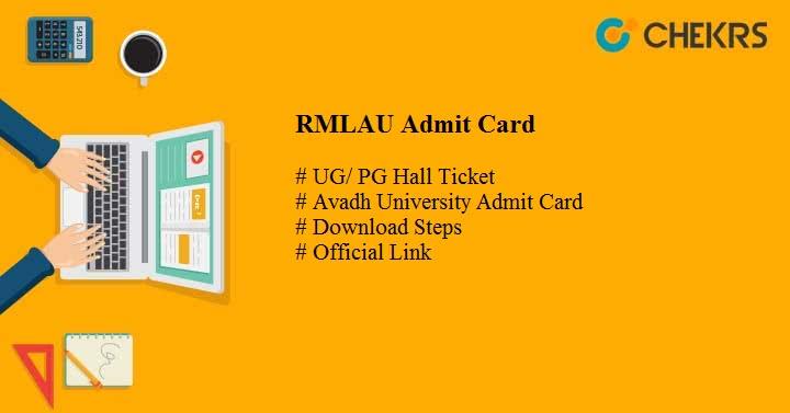 rmlau admit card