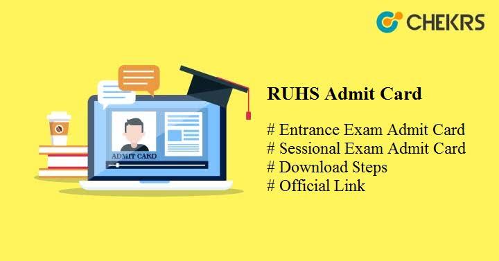 ruhs admit card 2021