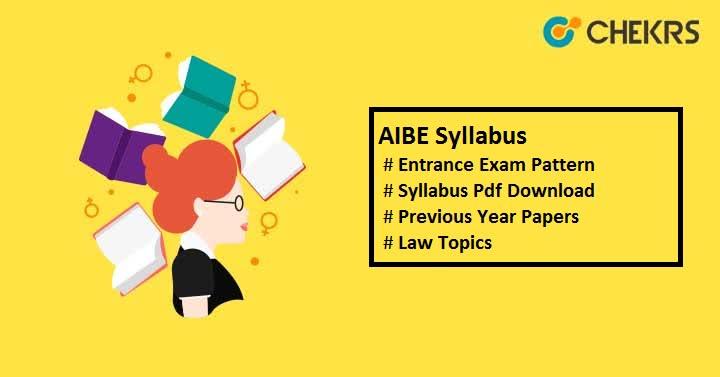 AIBE Syllabus 2019 AIBE Exam Pattern