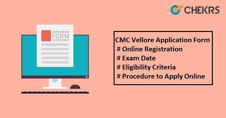 CMC Vellore Application Form
