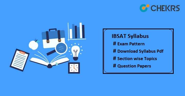 IBSAT Syllabus Pdf